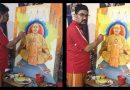 डॉ. मनोज ने तूलिका से कैनवास पर उकेरा यूपी के सीएम योगी आदित्यनाथ का व्यक्तित्व एवं कृतित्व