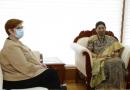 केंद्रीय महिला और बाल विकास मंत्री स्मृति जुबिन ईरानी ने ऑस्ट्रेलिया की विदेश मंत्री और महिला मंत्री मारिस पायने से मुलाकात की