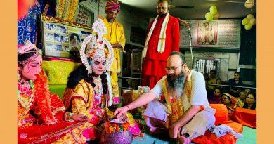 श्री मन:कामेश्वर मंदिर में मंचित हो रही रामलीला में हुआ कई प्रसंगों का मंचन